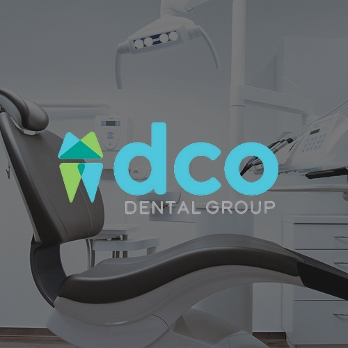 DCO Dential logo on a background showing a dental office